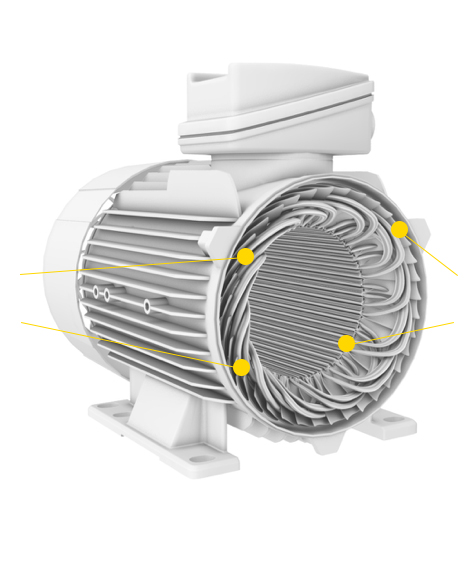 motor with part numbering - electrical insulation