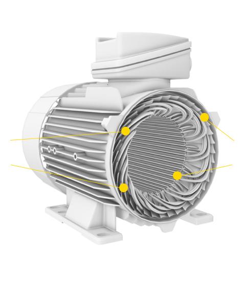 motor con numeracion de piezas - aislamiento electrico